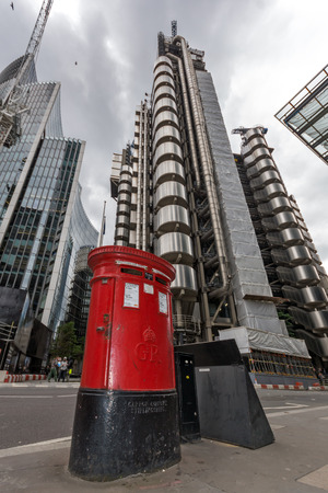 LONDON, ENGLAND - JUNE 18, 2016: Amazing view of Business Building in City of London, Great Britain Editorial