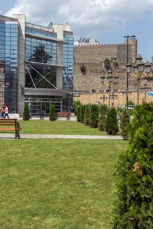 balkans: SKOPJE, REPUBLIC OF MACEDONIA - 13 MAY 2017: Holocaust Museum in city of  Skopje, Republic of Macedonia