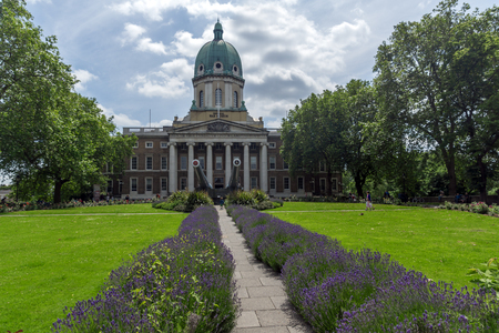 LONDON, ENGLAND - JUNE 19 2016: Amazing view of Imperial War Museum, London, England, United Kingdom