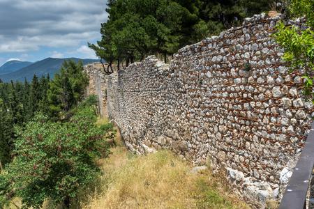 lamia: Stone Wall of the castle of Lamia City, Central Greece