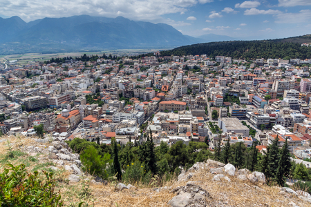 lamia: Panoramic view of Lamia City, Central Greece Editorial