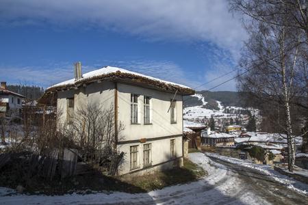 KOPRIVSHTITSA, BULGARIA - DECEMBER 13, 2013: Winter view of Old House  in historical town of Koprivshtitsa, Sofia Region, Bulgaria