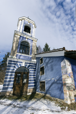 KOPRIVSHTITSA, BULGARIA - DECEMBER 13, 2013: Church of Assumption of Virgin Mary in historical town of Koprivshtitsa, Sofia Region, Bulgaria
