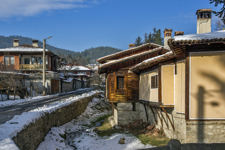 KOPRIVSHTITSA, BULGARIA - DECEMBER 13, 2013: Winter view of Old House  in historical town of Koprivshtitsa, Sofia Region, Bulgaria