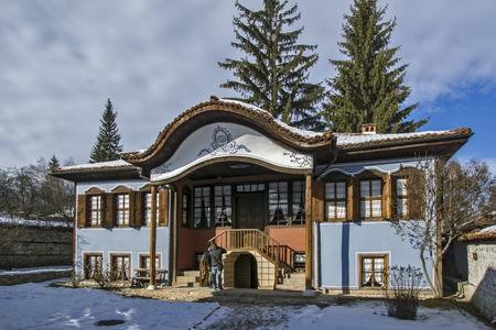 KOPRIVSHTITSA, BULGARIA - DECEMBER 13, 2013: Museum Lutova House in historical town of Koprivshtitsa, Sofia Region, Bulgaria