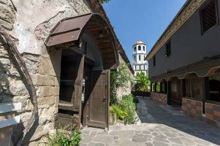 St. Constantine and St. Elena church from the period of Bulgarian Revival in old town of Plovdiv, Bulgaria Stok Fotoğraf