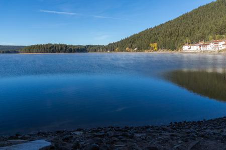 Amazing Autumn Landscape of  Golyam Beglik Reservoir, Pazardzhik Region, Bulgaria Stock Photo