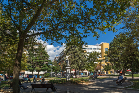 ALEXANDROUPOLI, GREECE - SEPTEMBER 23, 2017:  Park in town of Alexandroupoli, East Macedonia and Thrace, Greece Editorial