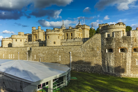 LONDON, ENGLAND - JUNE 15, 2016:  Historic Tower of London, England, Great Britain