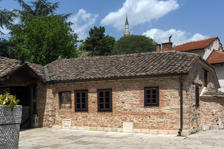 SKOPJE, REPUBLIC OF MACEDONIA - 13 MAY 2017: Orthodox Church of the Ascension of Jesus  in Skopje, Republic of Macedonia Editorial