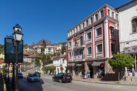 VELIKO TARNOVO, BULGARIA -  APRIL 11, 2017: Old Houses at central street in city of Veliko Tarnovo, Bulgaria Editorial