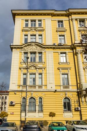 SOFIA, BULGARIA -NOVEMBER 12, 2017: Old Building in the center of city of Sofia, Bulgaria