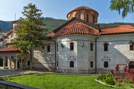 Old churches in Medieval Bachkovo Monastery, Bulgaria Stok Fotoğraf