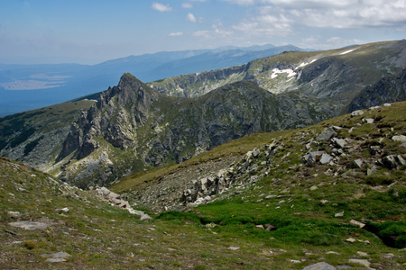Amazing Panoramic Landscape near The Seven Rila Lakes, Bulgaria