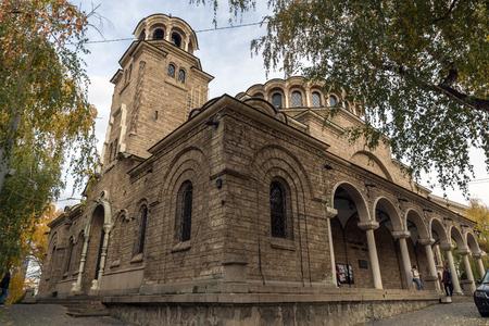 SOFIA, BULGARIA -NOVEMBER 12, 2017: Cathedral Church St. Nedelya in  Sofia, Bulgaria Editorial