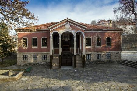 PERUSHTITSA, BULGARIA - DECEMBER 23, 2013: The building of Danov School from nineteenth century, Perushtitsa, Plovdiv Region, Bulgaria