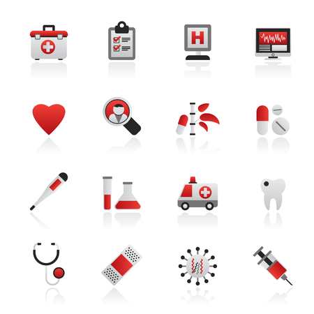 Set of healthcare concept icons
