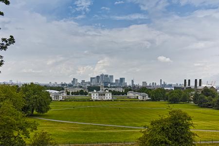 LONDON, ENGLAND - JUNE 17 2016: Amazing Panorama from Greenwich, London, England, United Kingdom