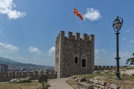 SKOPJE, REPUBLIC OF MACEDONIA - 13 MAY 2017: Skopje fortress (Kale fortress) in the Old Town, Republic of Macedonia Redakční