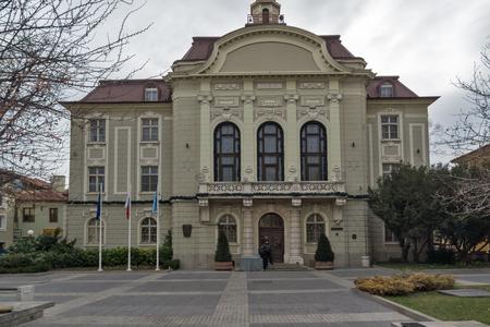 PLOVDIV, BULGARIA - DECEMBER 30, 2016: Building of City Hall in center of city of Plovdiv, Bulgaria