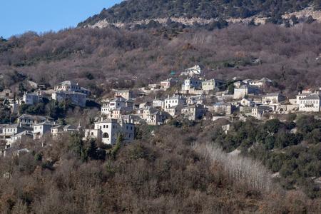 Panoramic view of village Vitsa, Zagori, Epirus, Greece