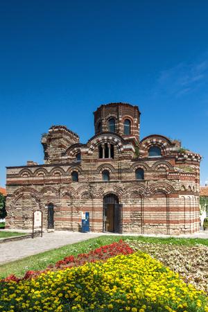 NESSEBAR, BULGARIA - 30 JULY 2014: Church of Christ Pantocrator in the town of Nessebar, Burgas Region, Bulgaria Editorial