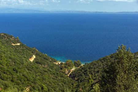 Seascape of Banana Beach at Sithonia peninsula, Chalkidiki, Central Macedonia, Greece
