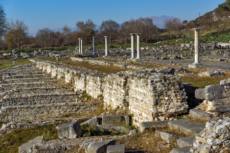 Ruins of the ancient city of Philippi, Eastern Macedonia and Thrace, Greece