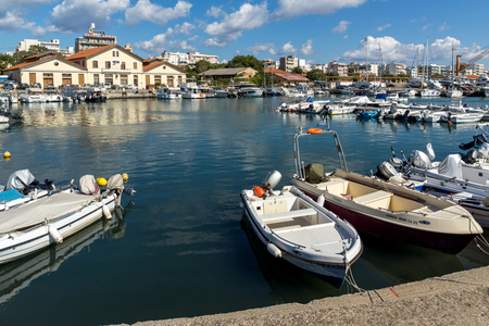 ALEXANDROUPOLI, GREECE - SEPTEMBER 23, 2017:  Port and Panorama to town of Alexandroupoli, East Macedonia and Thrace, Greece