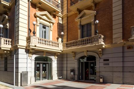 MADRID, SPAIN - JANUARY 21, 2018: Facade of Lazaro Galdiano Museum in City of Madrid, Spain