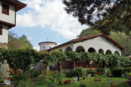 Medieval Monastery of Seven Altars of the Most Holy Mother of God, Sofia region, Bulgaria Banco de Imagens - 96353238