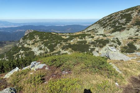 Amazing landscape of Rila Mountain near The Scary lake, Bulgaria Stock Photo