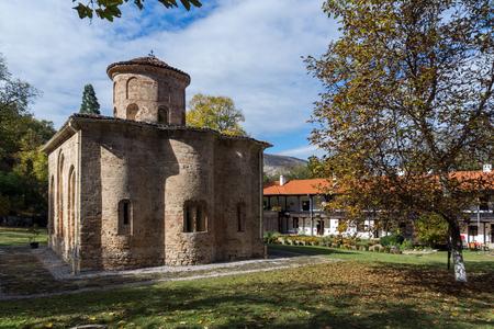 Autumn view of The 11th century  Zemen Monastery, Pernik Region, Bulgaria Stock Photo - 100269266