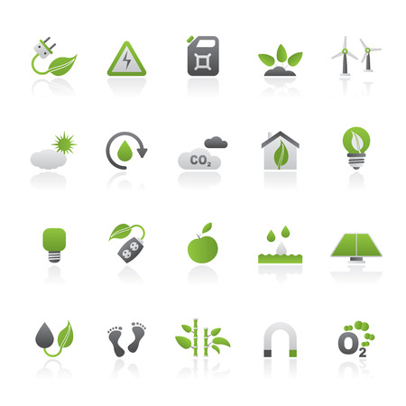 Ecology, Environment and nature icons - vector icon set