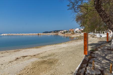 Coastline of Town of Limenaria, Thassos island, East Macedonia and Thrace, Greece
