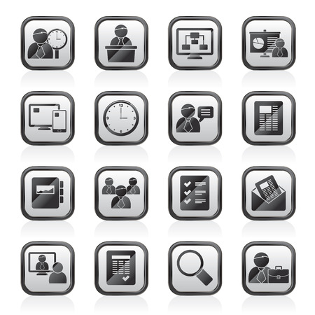 Business, presentation and Project Management icons - vector icon set