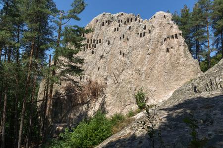 Antique Thracian Sanctuary Eagle Rocks near town of Ardino, Kardzhali Region, Bulgaria