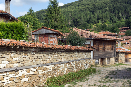Architectural reserve of Zheravna with nineteenth century houses, Sliven Region, Bulgaria Stock Photo