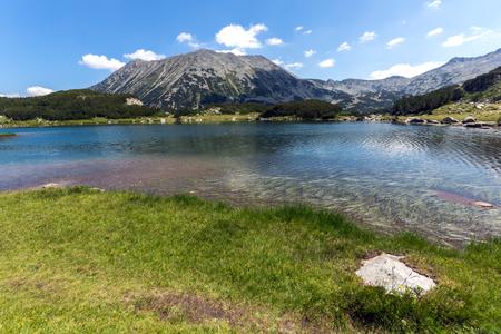 Amazing Landscape with Muratovo Lake and Todorka peak, Pirin Mountain, Bulgaria Stock Photo