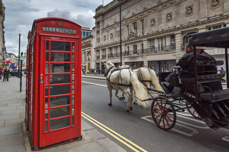 LONDON, ENGLAND - JUNE 16 2016: Street near Piccadilly Circus, City of London, England, Great Britain