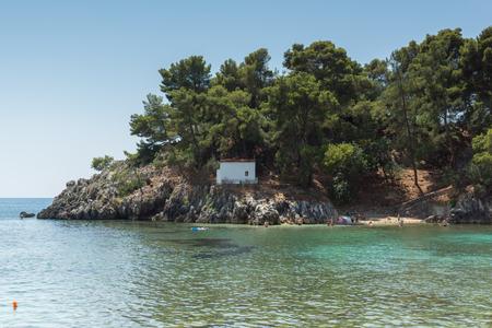PARGA, GREECE - JULY 17, 2014: Amazing summer view of town of Parga, Epirus, Greece