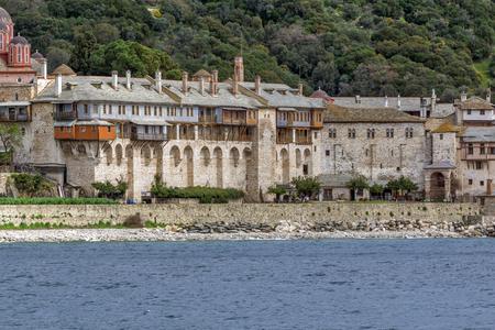 Xenophontos monastery at Mount Athos in Autonomous Monastic State of the Holy Mountain, Chalkidiki, Greece