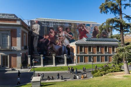 MADRID, SPAIN - JANUARY 22, 2018: National Museum of the Prado in City of Madrid, Spain