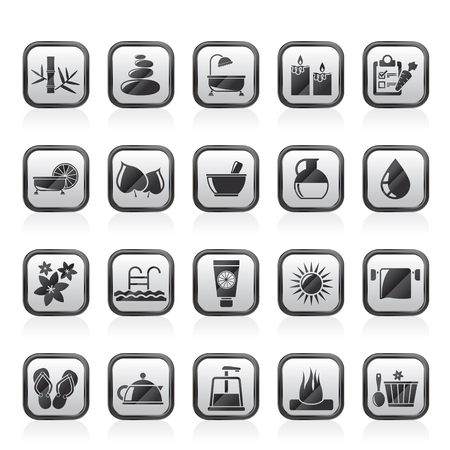 Spa, Beauty and body care icons - vector icon set