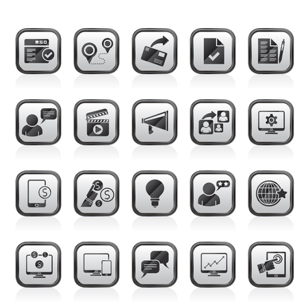Internet Marketing and commerce icons - vector icon set
