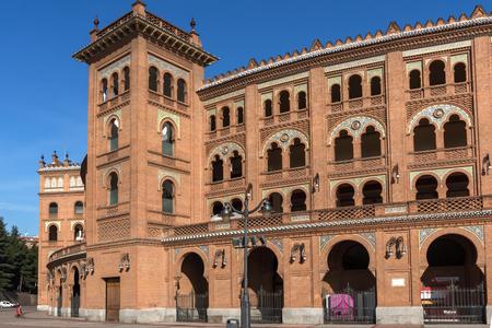 MADRID, SPAIN - JANUARY 24, 2018:  Las Ventas Bullring (Plaza de Toros de Las Ventas) in City of Madrid, Spain Editorial