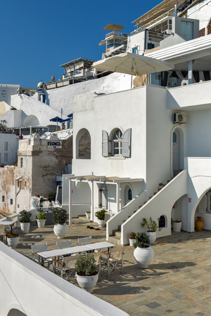 SANTORINI, GREECE - MAY 4, 2013: Panoramic view of Santorini island, Thira, Cyclades, Greece Redakční