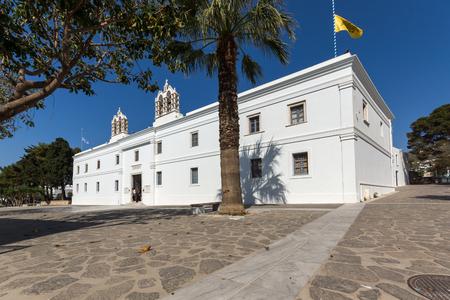 PAROS, GREECE - MAY 3, 2013: Panagia Ekatontapiliani church in Parikia, Paros island, Cyclades, Greece
