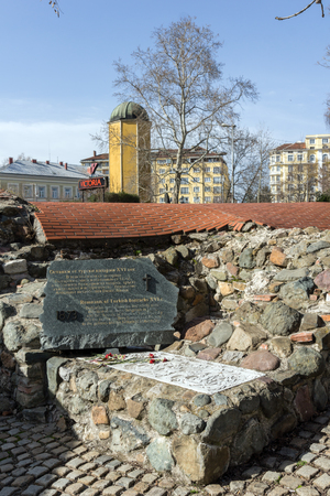 SOFIA, BULGARIA - MARCH 17, 2018: Remnants of sixteenth century Turkish barracks in Sofia, Bulgaria Banque d'images - 123130748