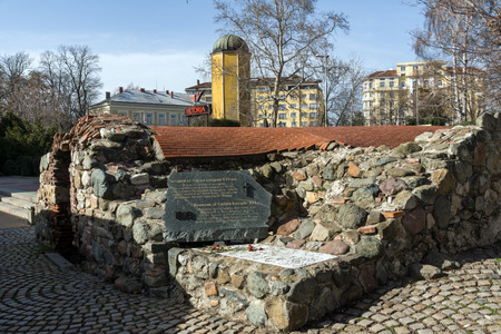 SOFIA, BULGARIA - MARCH 17, 2018: Remnants of sixteenth century Turkish barracks in Sofia, Bulgaria Banque d'images - 123130760